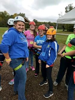 FCCLA Members Preparing to Zipline