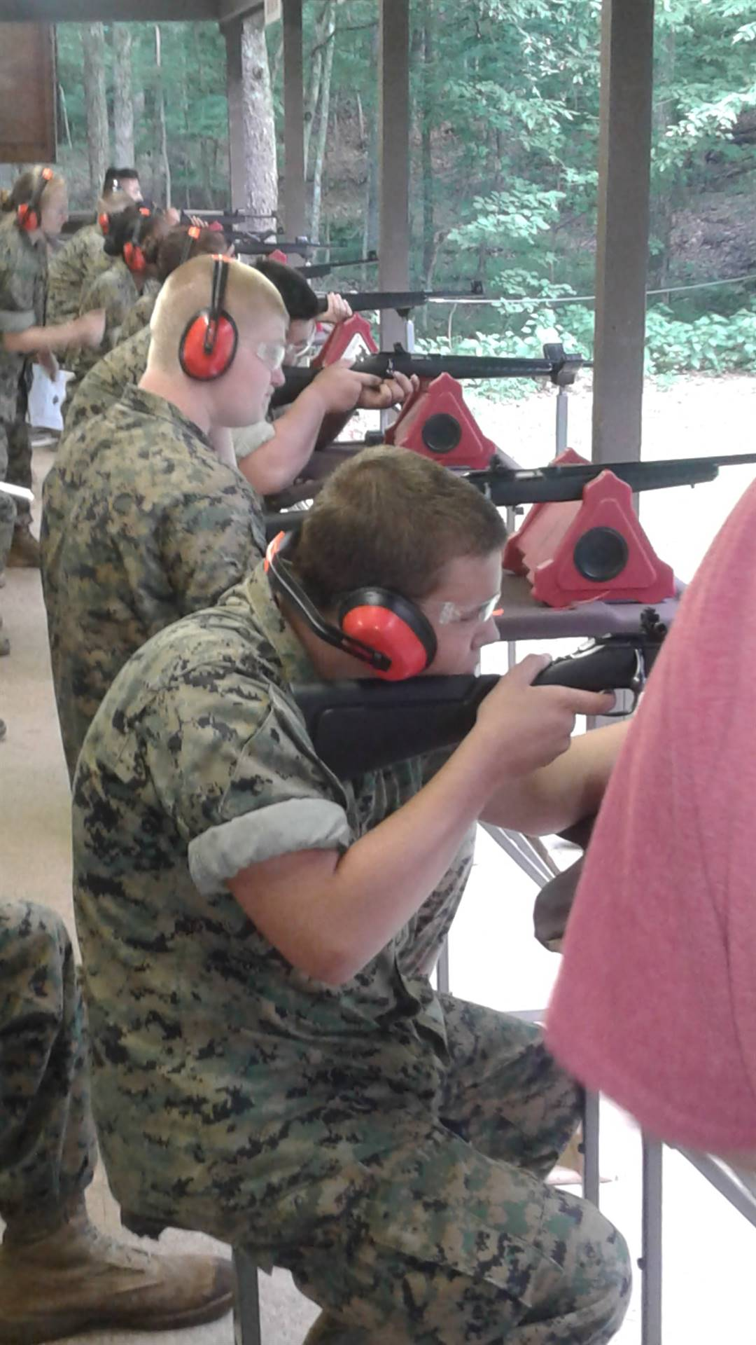 Cadets Dodson and Starrett  on the rifle range