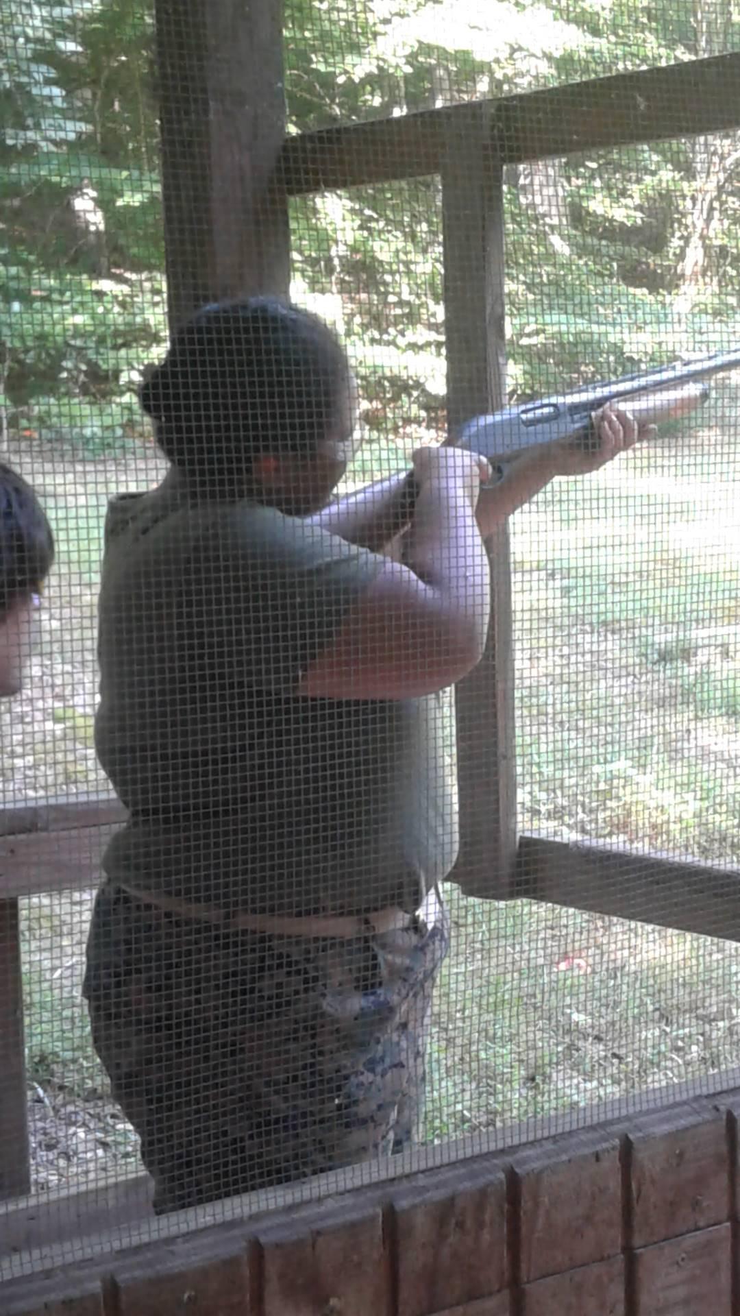 Cadet Maxwell on the skeet range