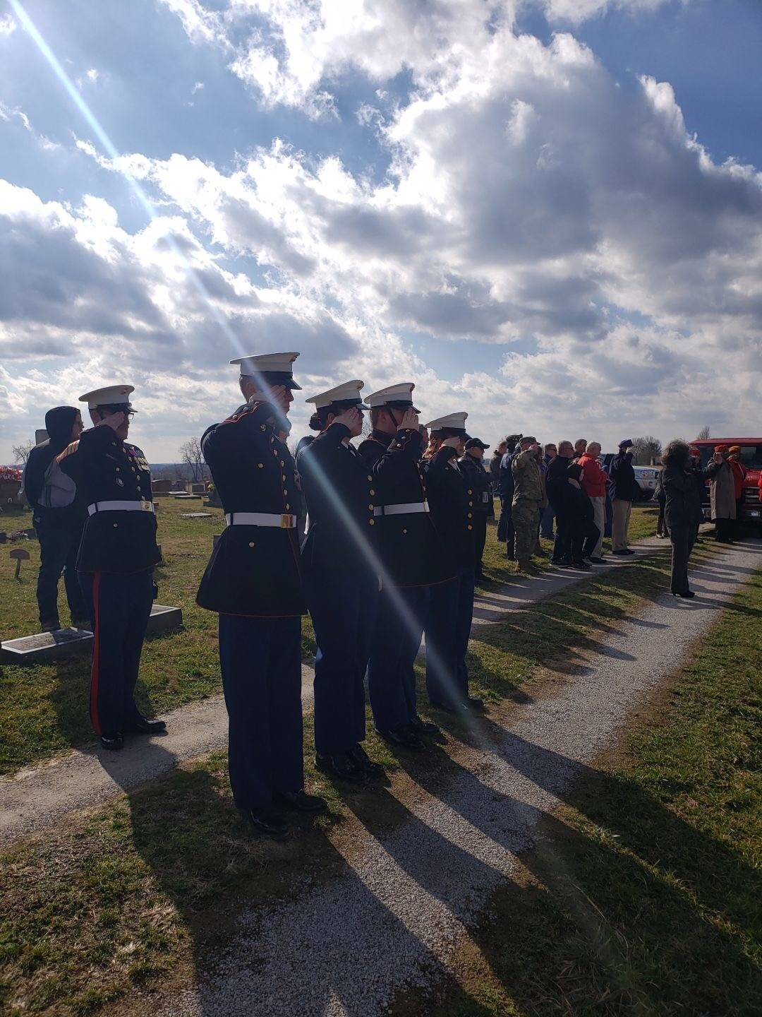 Cadets during Franklin Sousley memorial